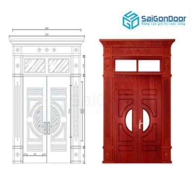 Cửa thép vân gỗ với kết cấu chắc chắn, độ an toàn tuyệt đối
